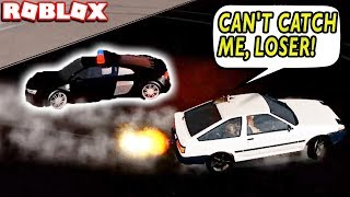 DRIFTING AND ESCAPING FROM COPS in ROBLOX VEHICLE SIMULATOR (SHAKEDOWN UPDATE)