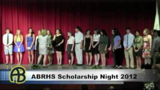 ABRHS Scholarship Night 2012 PT1