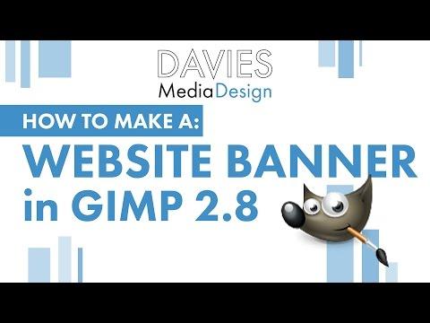 GIMP Tutorial: How to Make a Website Banner