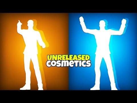 All Fortnite UNRELEASED Emotes & Skins..! (Leaked Cosmetics)