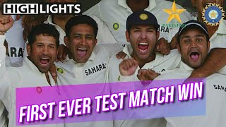 India making history by Winning the first ever test match win in Pakistan