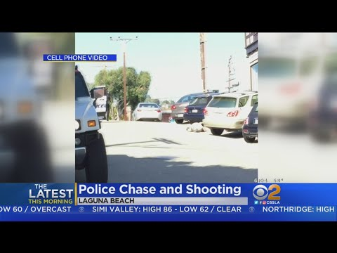 Chase, Shooting In Laguna Beach Caught On Camera