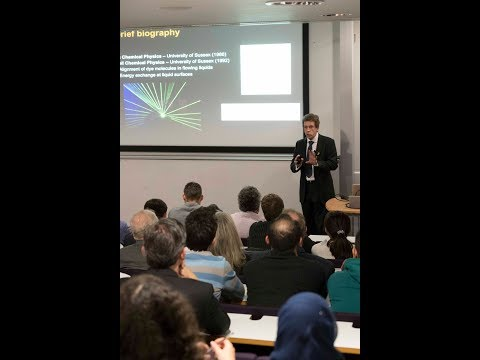 UCL EEE Inaugural Lecture by Professor Tony Kenyon, Vice Dean (Research), UCL Engineering