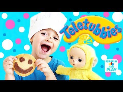 Laa Laa is a Bad Cook Making Tubby Toast Teletubbies Kitchen