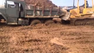 Military dump truck m51a2 finally stuck