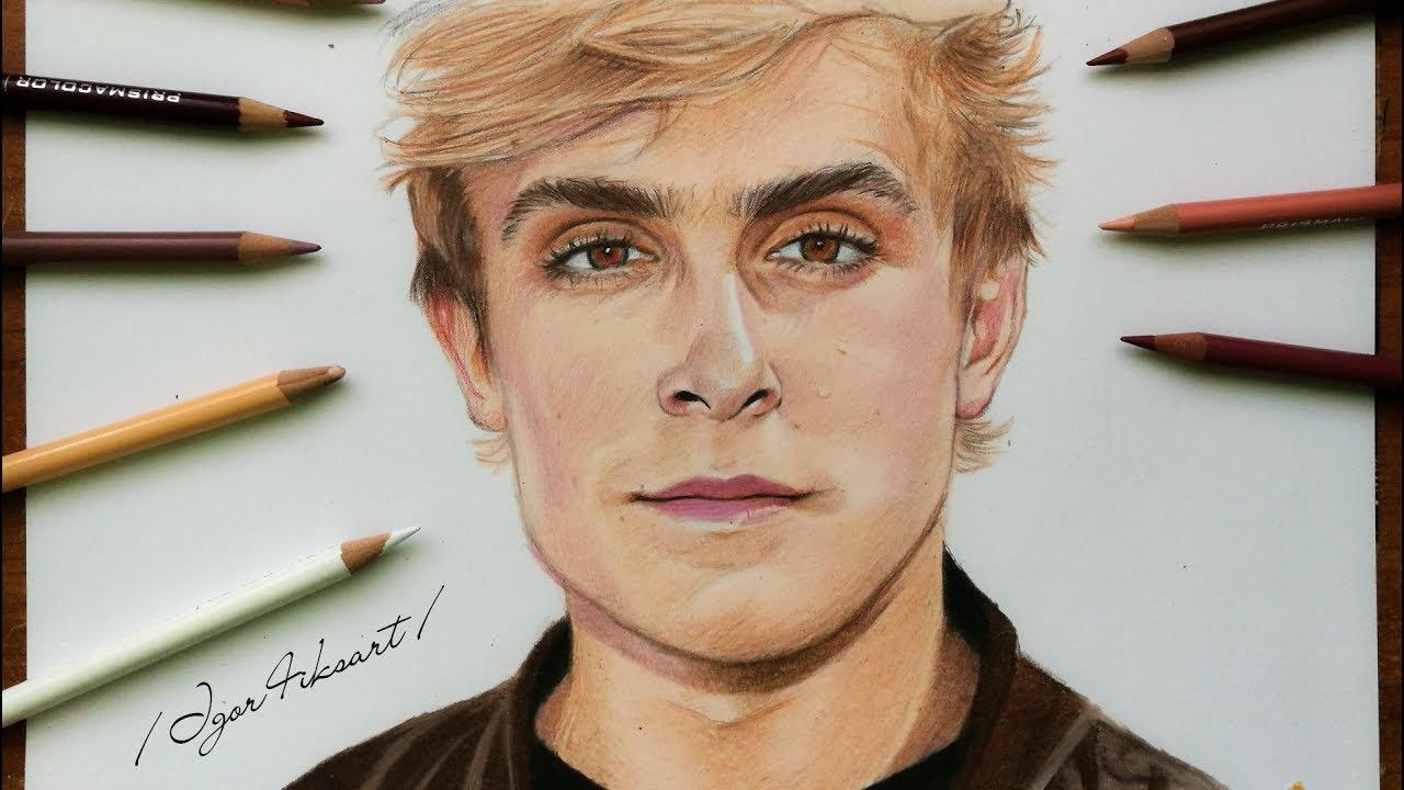 Drawing Jake Paul 🎥🎨 - YouTube