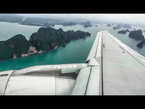 Bangkok Airways Airbus A320 SUPER SCENIC APPROACH and LANDING at Phuket Airport