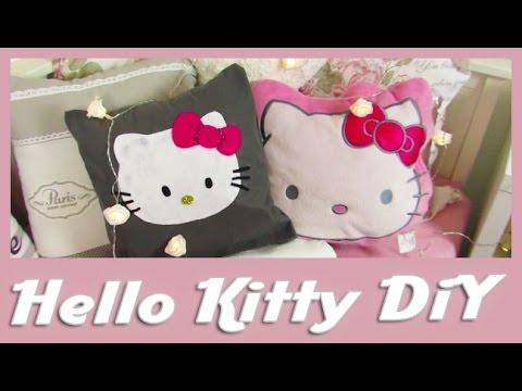 diy hello kitty kissen diy hello kitty pillow youtube. Black Bedroom Furniture Sets. Home Design Ideas