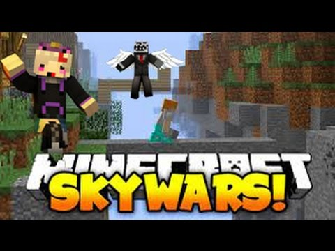 MineCraft Skywars: SHE KILLED THE FLY HACKER!!!!