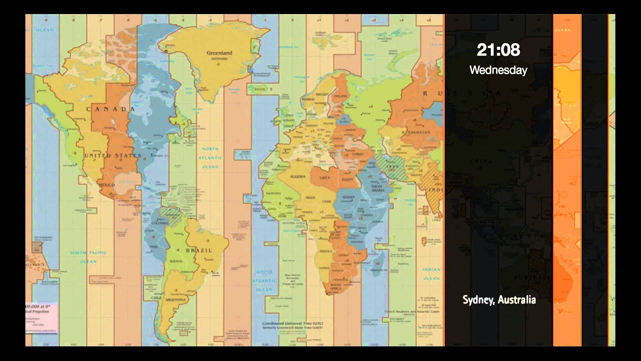 World Time Zone Clock   YouTube