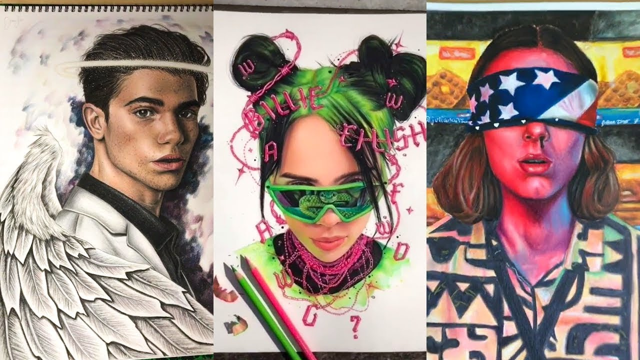 tiktok famous drawing artists compilation