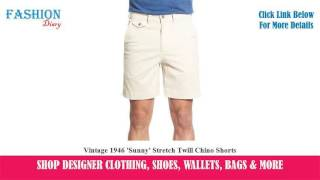 ★★★ Vintage 1946 'Sunny' Stretch Twill Chino Shorts ★★★ | Rooney Smite