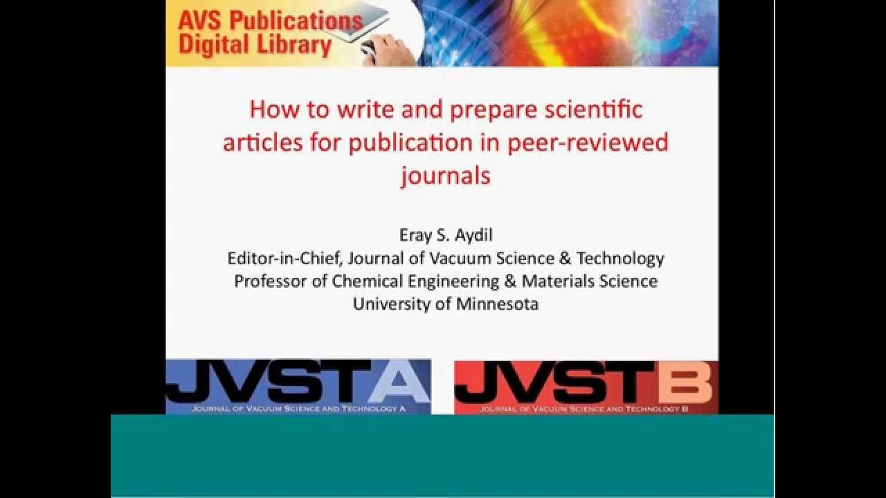 How to Write and Prepare Scientific Articles for Publication