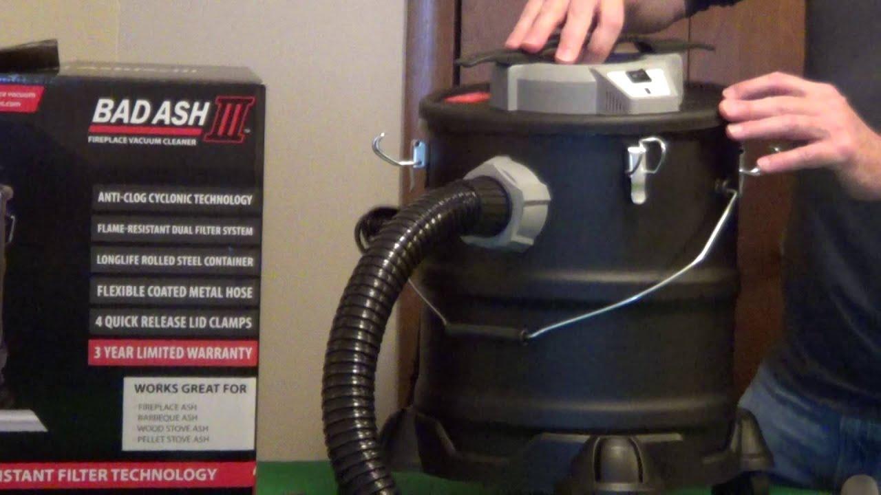 fireplace vacuum bad ash 3 youtube