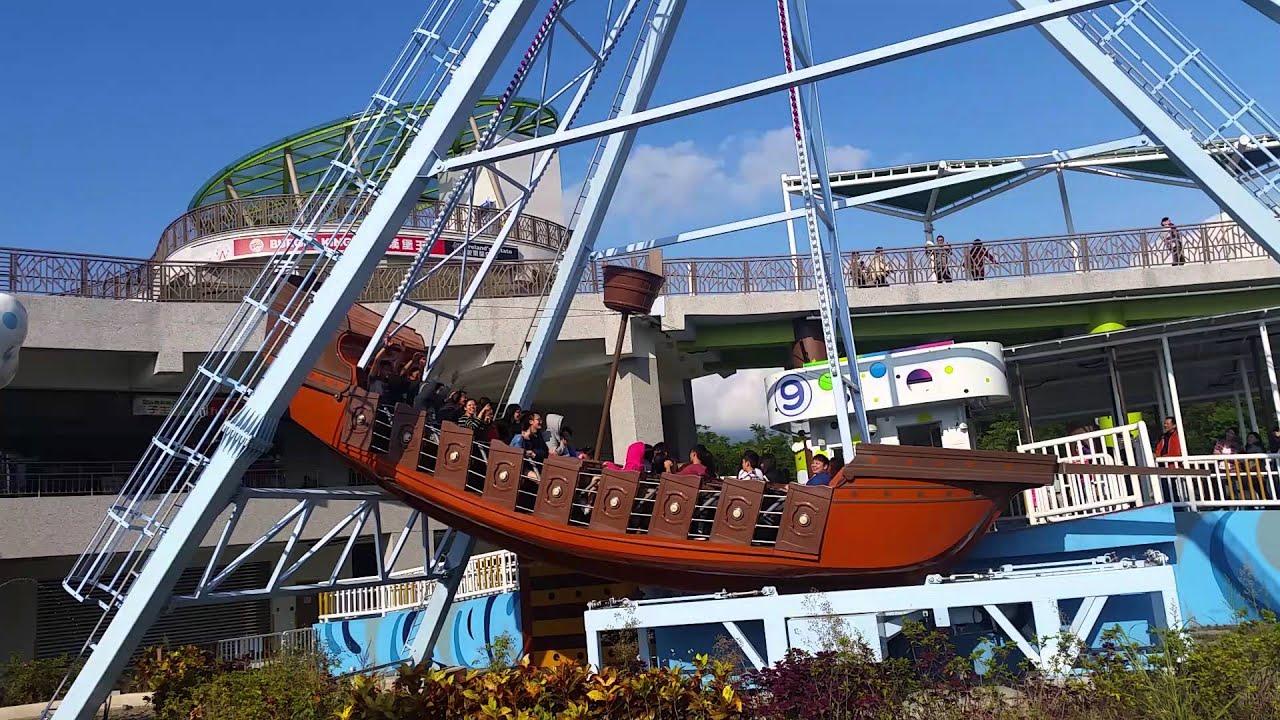太誇張了喔!新兒童樂園海盜船 - YouTube