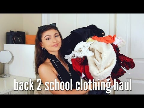BACK TO SCHOOL CLOTHING HAUL | TRY ON