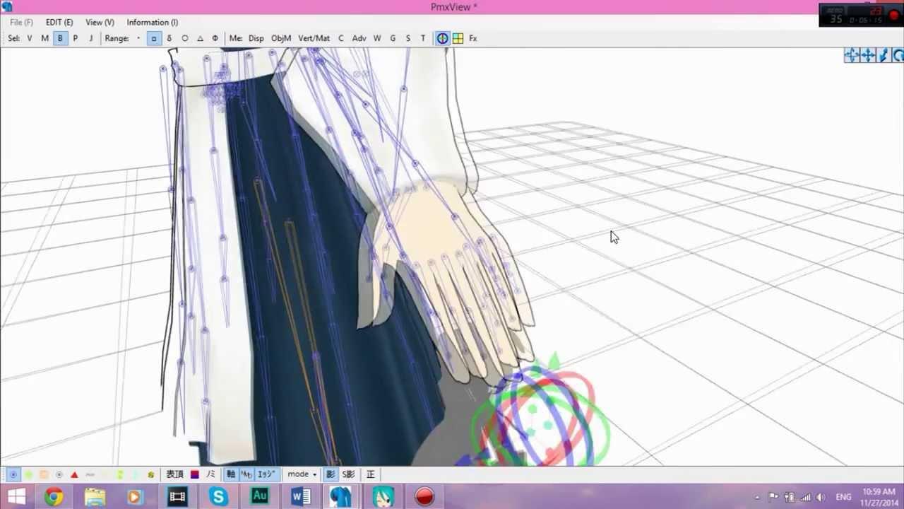 PMX Editor/MMD Finger Control Bone Tutorial