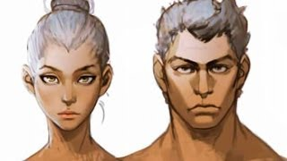 Рисование персонажей (урок #3) | Покраска головы в Фотошоп
