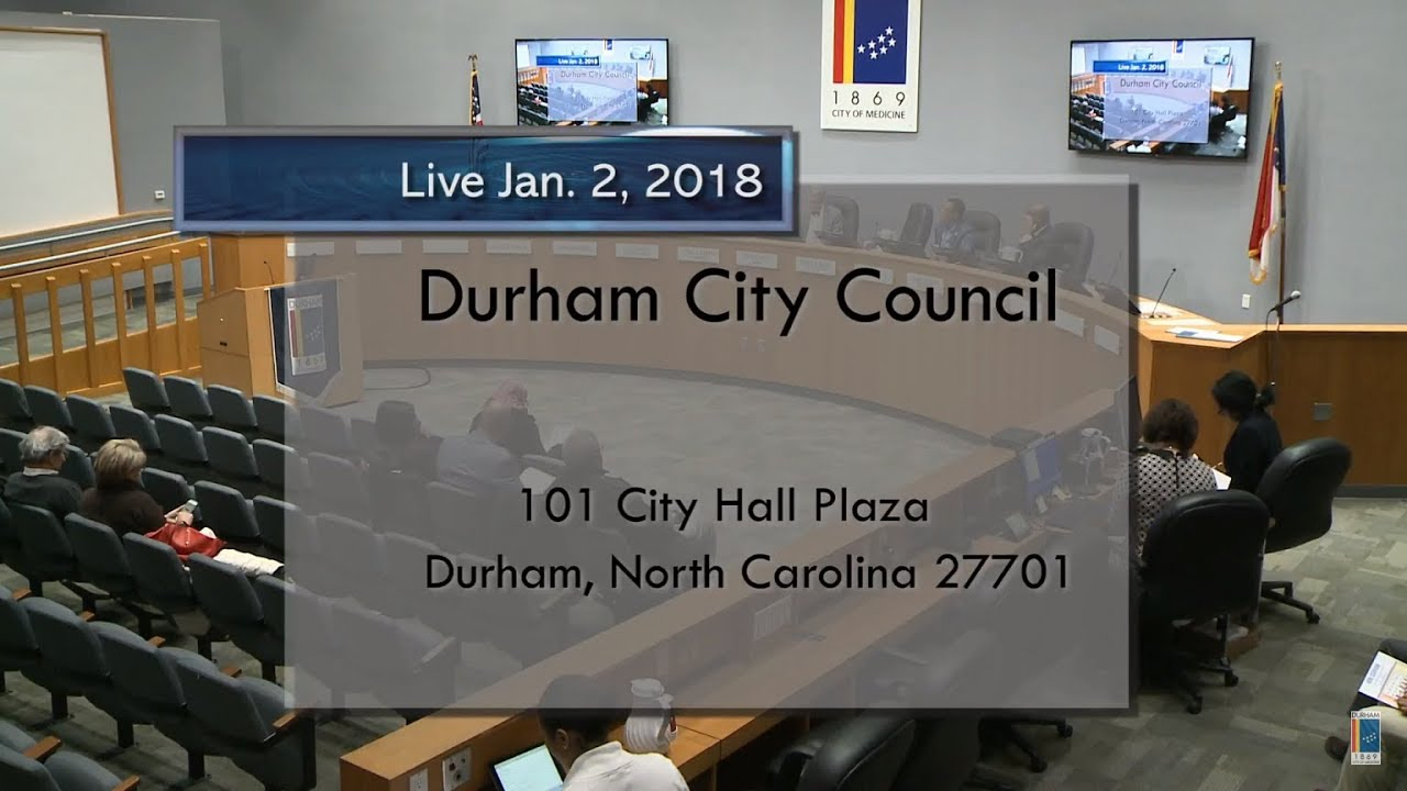 Durham City Council Jan 2 2018 Youtube