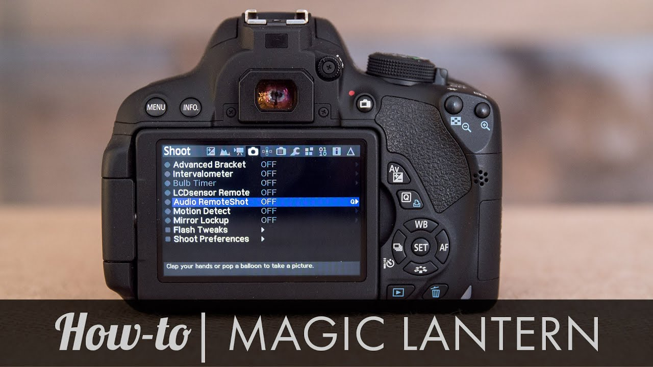 Magic lantern install youtube