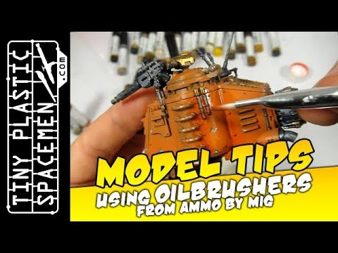Shading Wargame Models with Oils: Using Oilbrushers by Ammo!