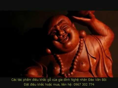 [www.tactuongphat.com] Tượng gỗ Phật Di lặc, Nghệ nhân Đào Văn Bồi