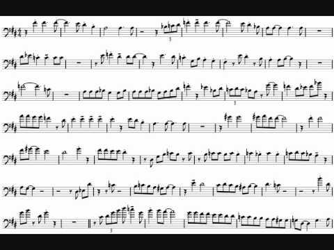 JJ Johnson 'I'll Remember April' Trombone Solo Transcription