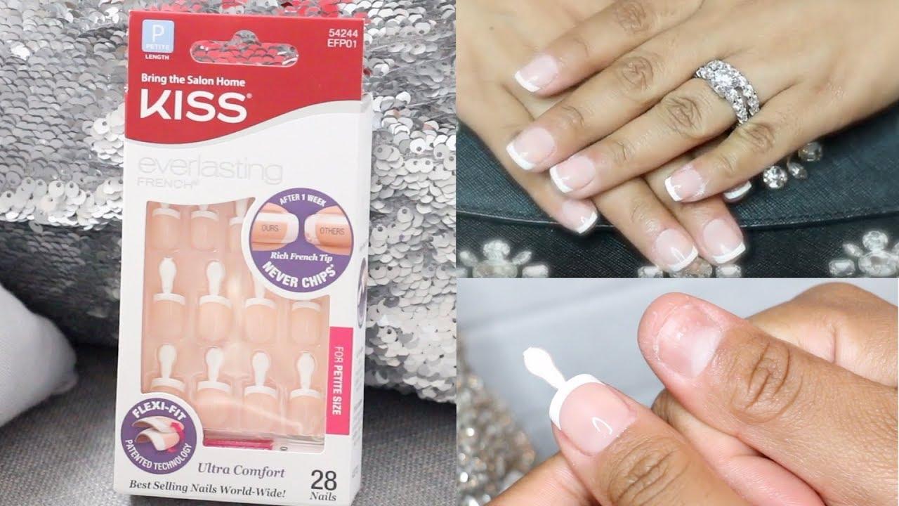 DIY KISS French Tip Press On Nails Under $5 dollars (Tutorial ...