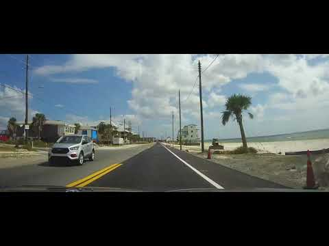Driving around Mexico Beach, Florida 1 Year after Hurricane Michael