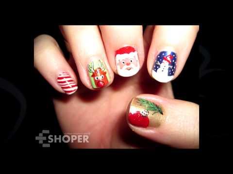 Подборка новогодних дизайнов ногтей 2015