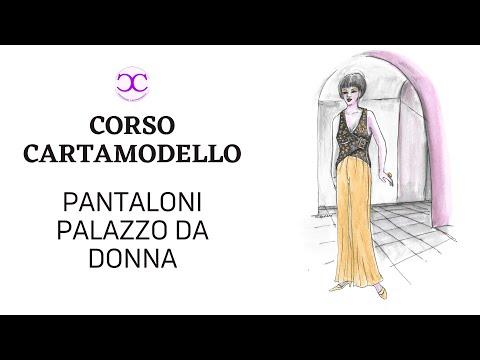 Pantaloni a Palazzo donna - costruire cartamodelli