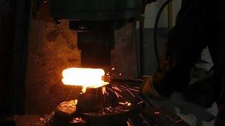 Как делают дамаск и закаляется сталь ▶ полируем клинок. Ножи Кизляр №2