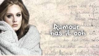 Adele - Rumor Has It {Lyrics on Screen}