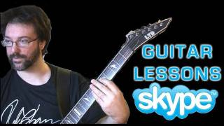 Skype guitar lessons with Rob Chappers - Beginners to advanced