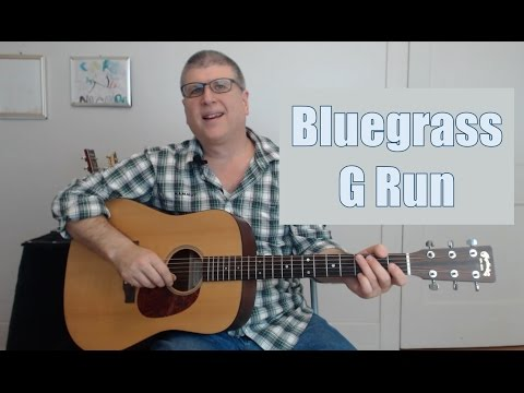 How to Play the Bluegrass Guitar G Run (with TAB)