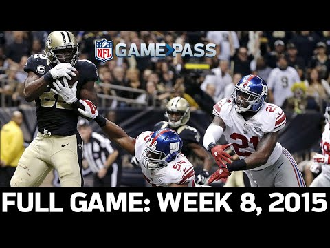 Over 100 Combined Points! New York Giants Vs. New Orleans Saints Week 8, 2015 Full Game