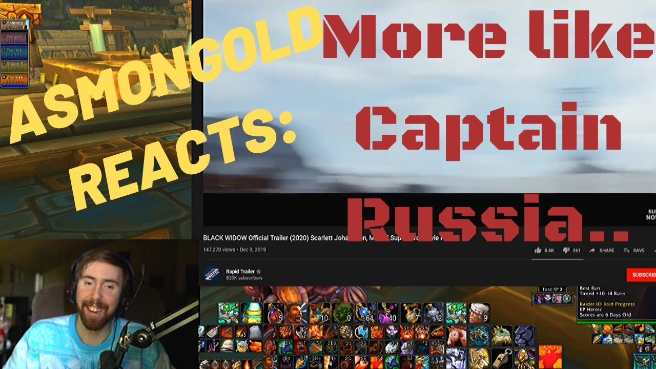 Just name it CAPTAIN RUSSIA! It'll do better.. (ASMONGOLD Reacts: Black Widow 2020 trailer)
