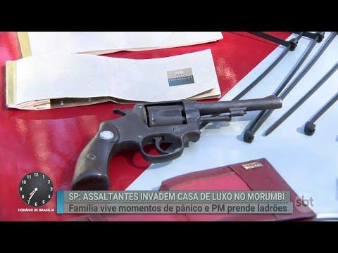 Bandidos invadem casa, ameaçam moradores, mas acabam presos | Primeiro Impacto (16/04/18)