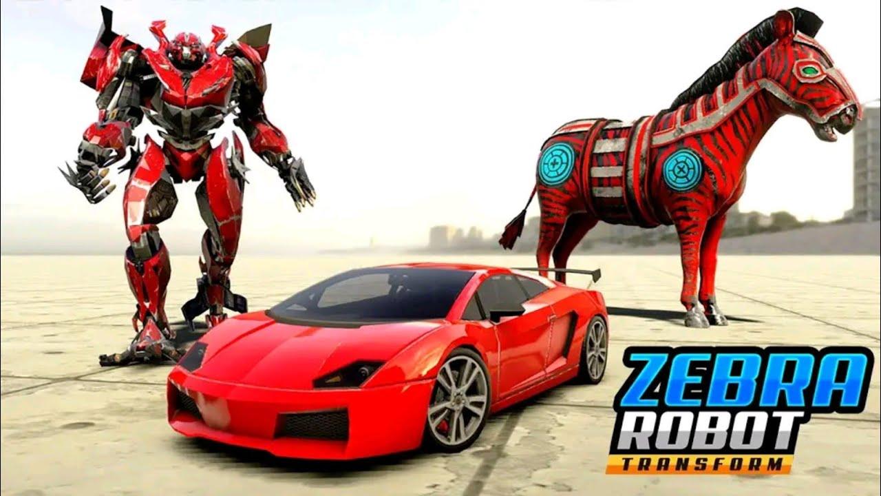 Mobil Balap Berubah Jadi Robot Zebra Zebra Robot Car Game Robot Transforming Games Youtube