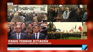‪#‎ParisAttacks‬: Minute of silence observed nationwide to honor the victims