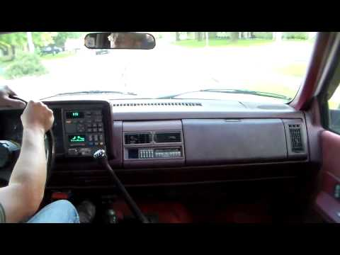 Driving the 1993 K1500 5-speed Blazer