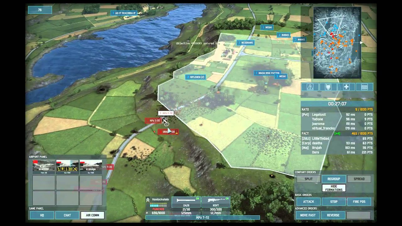 Wargame AirLand Battle 4v4 Conquest on Uppsala using All PACT Deck