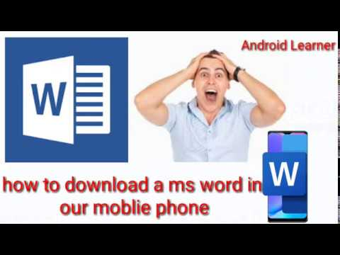 How To Download A Free Ms Word Office In Our Mobile Phone In Our Click