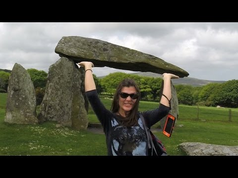 Pentre Ifan and Bryn Celli Ddu Burial Chamber Henge Anglesey North Wales Travel VLOG