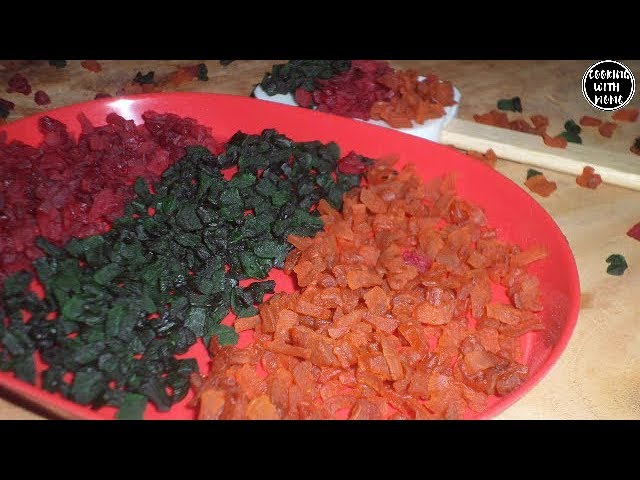 ঘরে তৈরি ট্টুটি ফ্রুটি | How To Make Tutti Frutti | Candied Fruit Recipe | Tutti Frutti Bangla