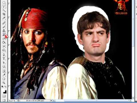 Фотошоп Photoshop - Вставка (замена) лица в шаблон фотографии