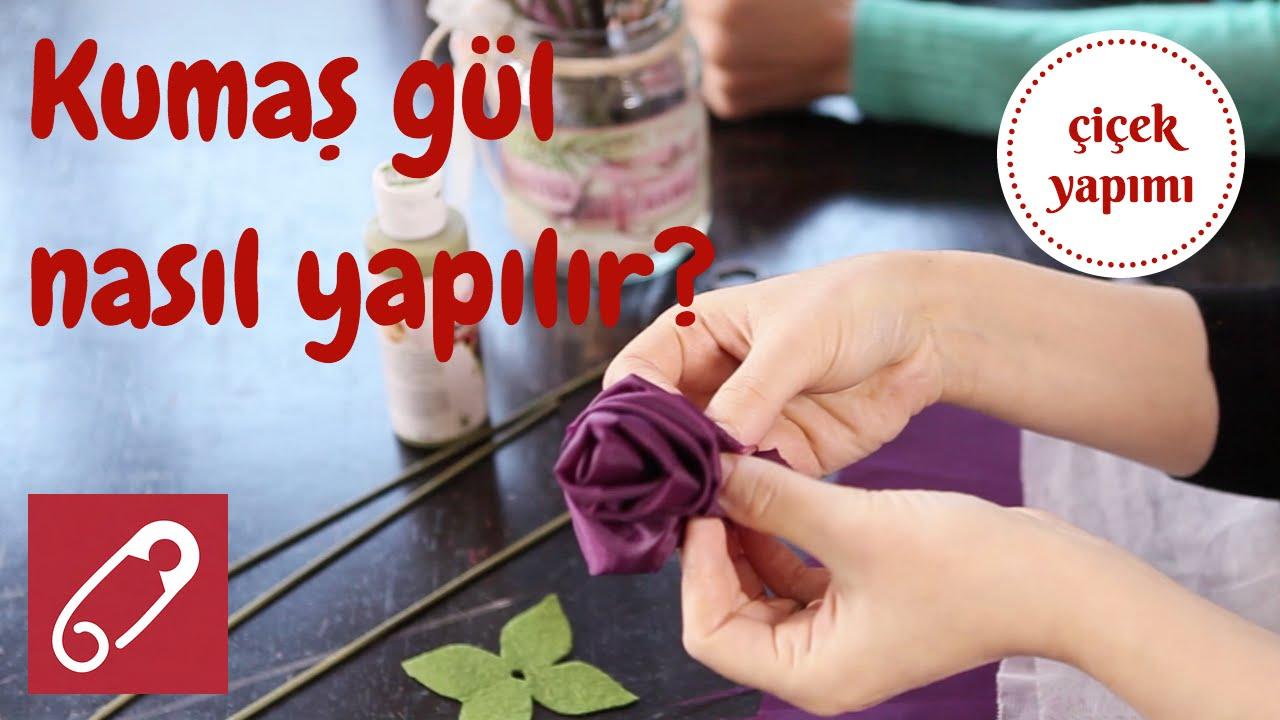 Kumaştan gül nasıl yapılır