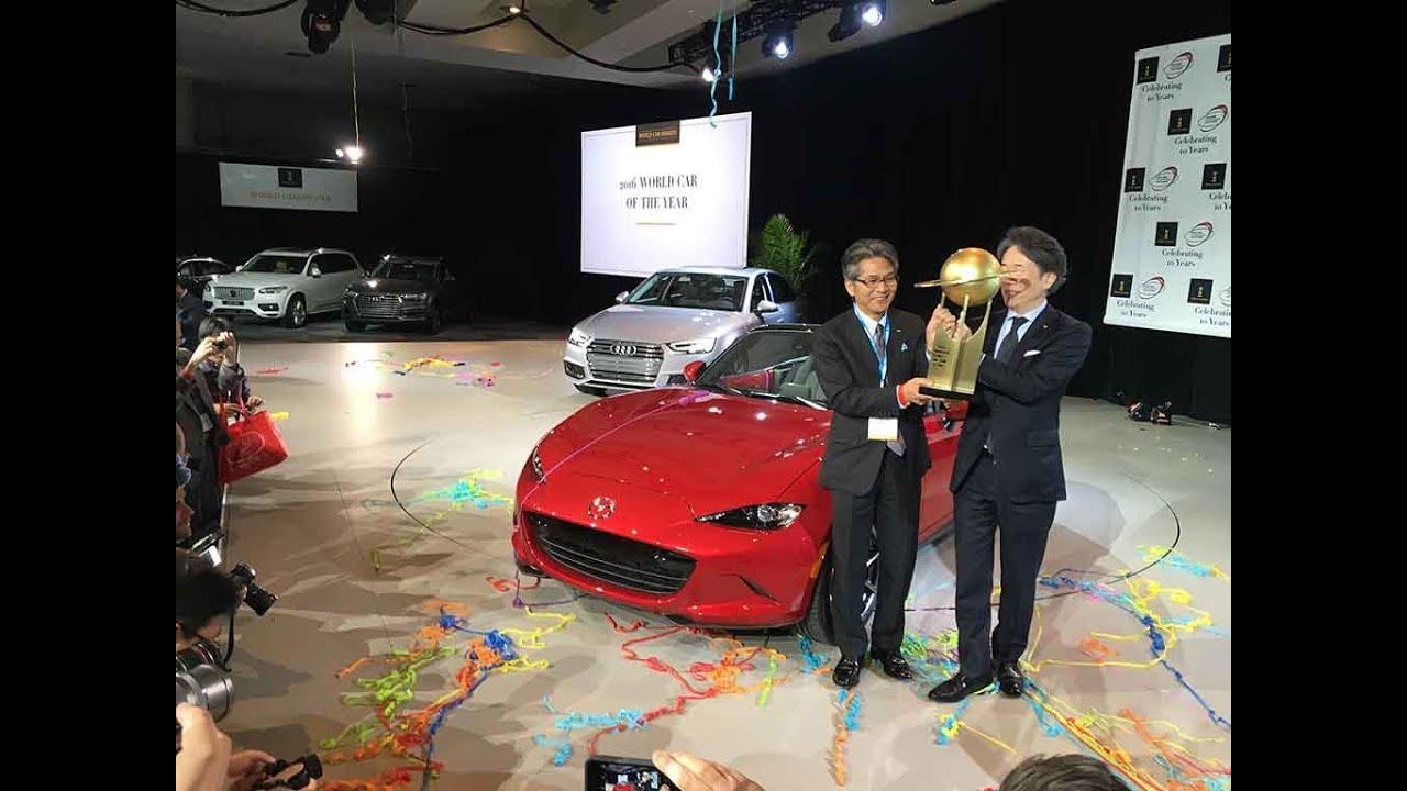 2016 Mazda Mx 5 Winner World Car Of The Year Award At The New York