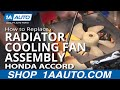 How To Install Repair Replace Passenger Side Radiator Engine Cooling Fan Accord 98-02 1AAuto.com