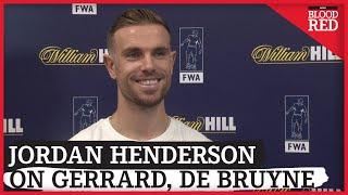 JORDAN HENDERSON INTERVIEW | Liverpool captain on Klopp, Gerrard, Dalglish & De Bruyne